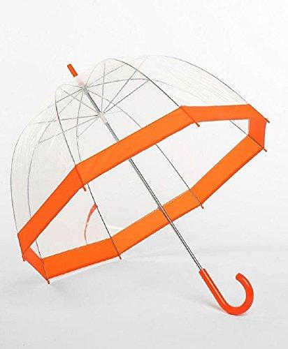 Frankford Clear Bubble Umbrellas Orange Trim,35'