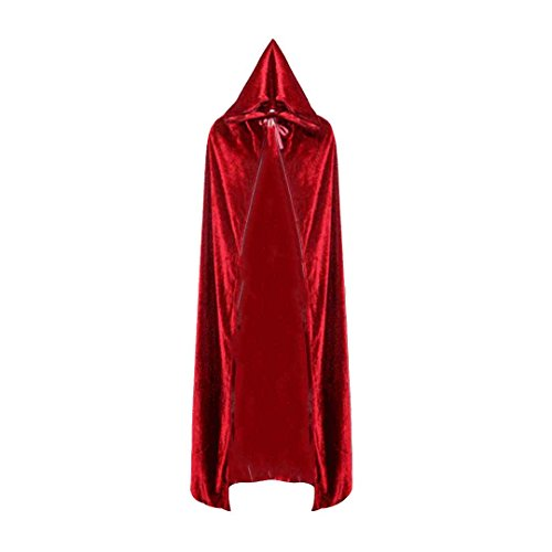 Ccassie Velvet Unisex Full Length Halloween Long Capes Christmas Party Cape Role Cape Cosplay Costumes Masquerade Cloak (Harry Potter Costume Without Robe)