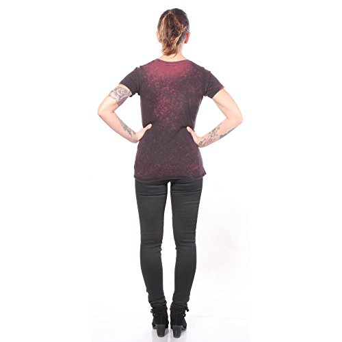de larga Affliction manga Starlett Camisetas qERw17