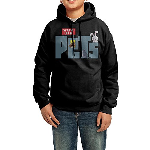 YHTY Youth Boys/Girls Hoodies The Secret Life Of Pets Black Size (Funniest Pet Costumes)