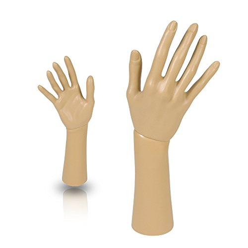 Mannequin Hand Display Jewelry Bracelet Necklace ring glove Stand holder (Best Only Mannequins® Hands)