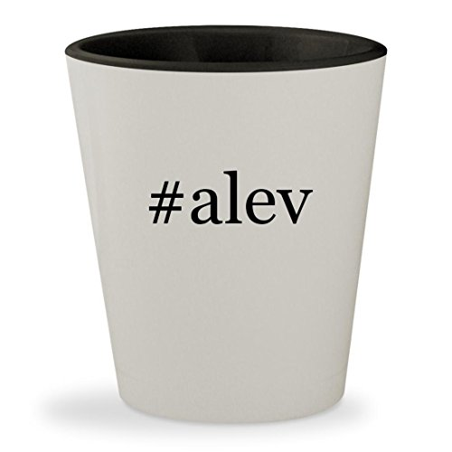 #alev - Hashtag White Outer & Black Inner Ceramic 1.5oz Shot Glass (Tab Mg 220)