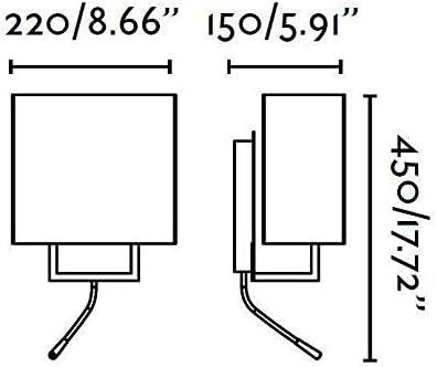 VESPER-Lot de 2 Appliques avec liseuses LED Brun//Blanc H45cm Faro
