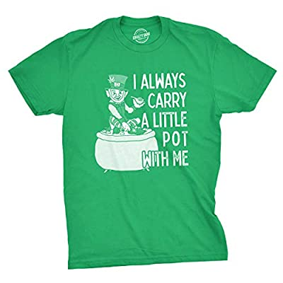 Mens I Always Carry A Little Pot with Me T Shirt Funny Saint Patricks Day Patty
