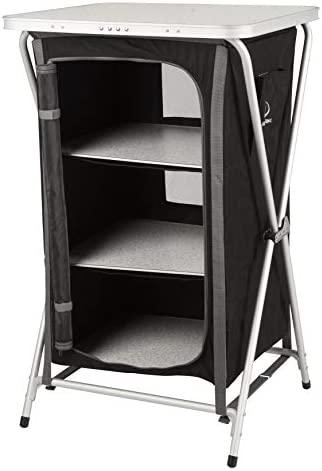 KG KitGarden - Armario Camping Plegable, 60x52x88 cm, Negro, Cabinet Camping