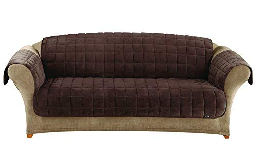 Surefit Deluxe Sofa Furniture Cover (with arms) - Chocolate