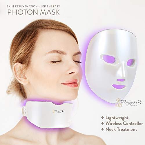 Project E Beauty 7 Colors LED Mask Face & Neck Photon Light Skin Rejuvenation Therapy Facial Skin Care Wireless Mask by Project E Beauty (Image #2)