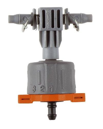 Gardena-8317-20-Micro-Drip-System-Regulierbarer-Reihentropfer-druckausgleichend-Inhalt-5-Stck-1-Verschlusskappe