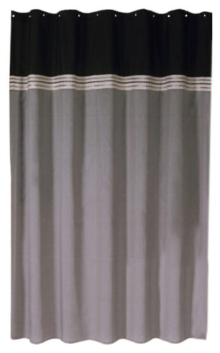 Lush Decor Terra Shower Curtain, 72 X 72 Inch, Black/Silver