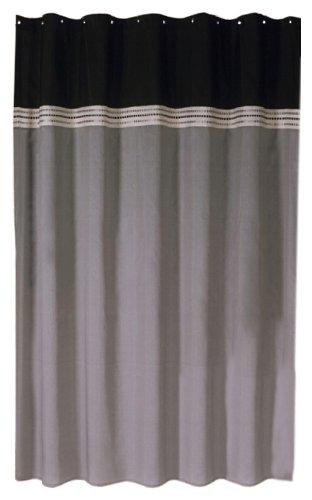Lush Decor Terra Shower Curtain, 72 X 72 Inch, Black/Silver