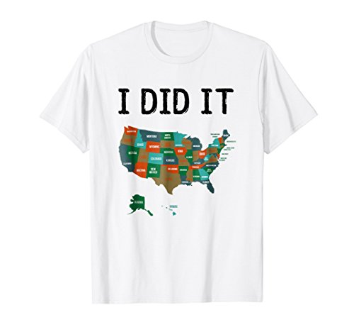 Visited all 50 states shirt, USA map t-shirt gift for travel by Visited all 50 states shirt