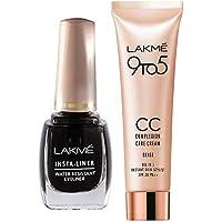 Lakme Insta Eye Liner, Black, 9ml & Lakmé Complexion Care Face Cream, Beige, 9g