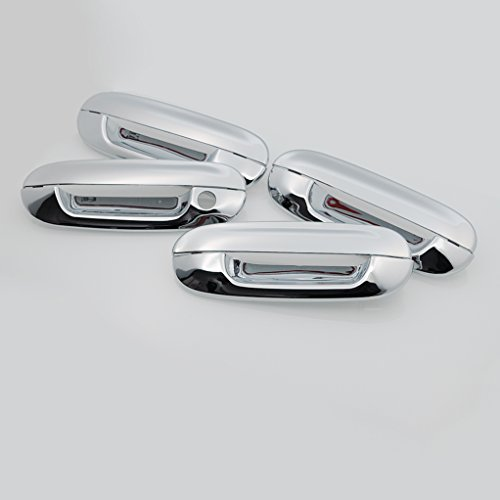 E-Autogrilles Triple Chrome Plated ABS 4 Door Handle Covers for 02-09 Chevrolet Trailblazer+02-09 GMC Envoy+00-05 Cadillac DeVille+06-11 Cadillac DTS+03-07 Cadillac CTS+03-08 Isuzu Ascender+04-07 Buick Rainier+02-04 Oldsmobile Bravada+05-09 Saab 9-7x ( 64-0129 )