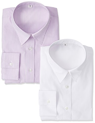 メタンセットアップセンチメートル(セシール) cecile 形態安定2枚組レギュラーシャツ(長袖)