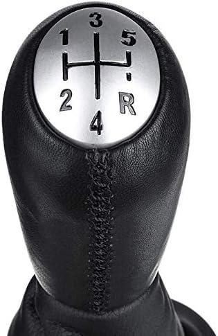 Basage Levier de Vitesse de Voiture Manuelle en Cuir /à 5 Vitesses avec Couvercle de Coffre pour Clio 2 Clio 3 Megane 2 Scenic 2 Kangoo