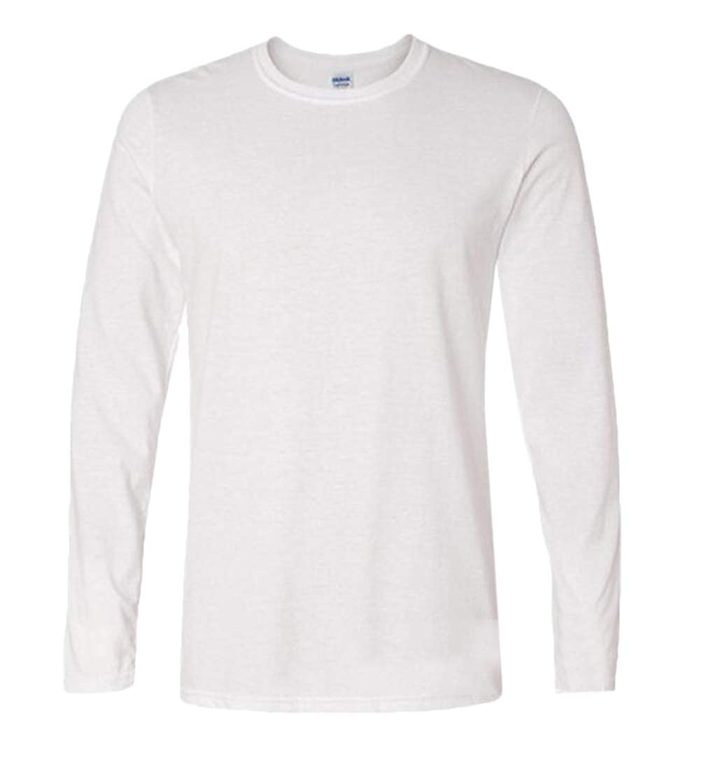 X-Future Mens Pullover Solid Color Long Sleeve Cotton Crew Neck T-Shirt Tee Top