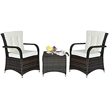 Amazon Com Soges 3 Pieces Outdoor Furniture Patio Set