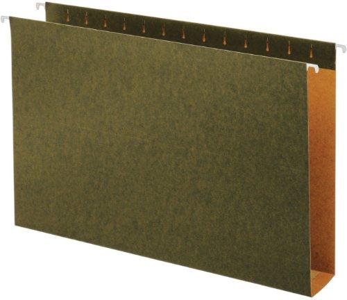 Globe-Weis/Pendaflex Box Bottom Hanging Folders, 2-Inch Expansion, Legal Size, Green, 25 Folders Per Box (65359)