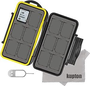 Kupton 24 Slots Water-resistant Shockproof Memory Card Case Box