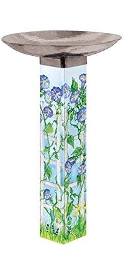 Amazon Com Painted Peace Bluebonnet Trellis Birdbath Art
