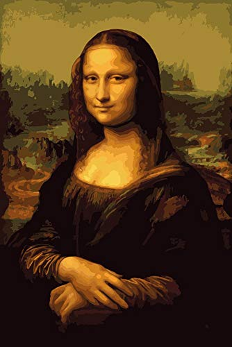 Paint by Numbers, Paint by Number DIY Oil Painting Canvas Set with Brush and Acrylic Paint, Paint by Numbers for Kids, Adults and Beginners, 16x20inch[Mona Lisa-KP042]
