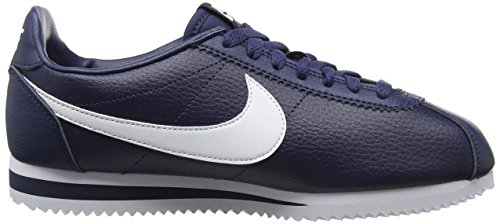 Nike Zapatillas Midnight Navy Cortez Hombre de White Running Negro 414 Leather Classic 4qrn7pCw4