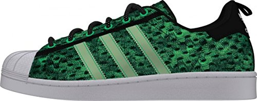 adidas Superstar Glow In The Dark, Baskets Basses Homme Gris