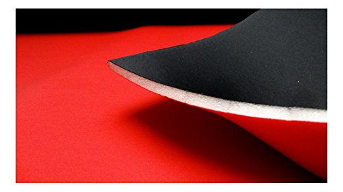 3205 Stretch Fabrics City Noir//Rouge 10 mm en n/éopr/ène imitation double face en n/éopr/ène tissus