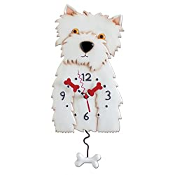 Westin Dog Westie Clock Allen Designs
