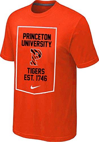 Nike Princeton Tigers Established Banner T-Shirt (Orange, Large)