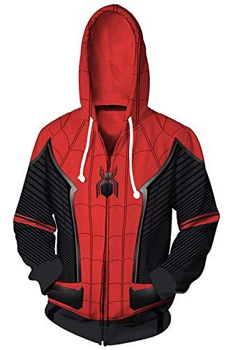 Anime Unisex Superhero Spider-Man Parallel Universe 3D Hoodie Cosplay Costume Pullover Pocket Sweatshirt (X-Small, Hero Expedition) ()
