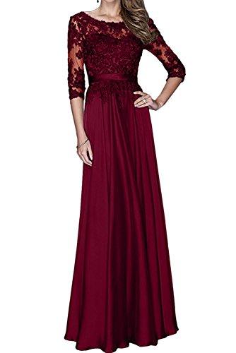 Spitze Promkleider 2017 Blau Marie Langes Braut Ballkleider Abendkleider Weinrot Abiballkleider Langarm Dunkel La xqOBgXHwAg