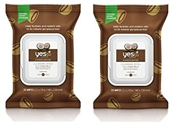 Yes To Coconut Hydrate & Restore Cleansing Facial Wipes (60 Coconut Wipes)