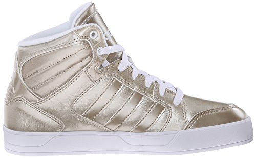 Adidas Neo Dames Raleigh Mid W Casual Sneaker Cyber Metallic Grijs / Cyber Metallic Grijs / Wit