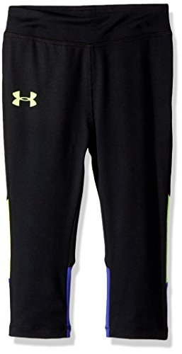 Under Armour Toddler Girls' Core Active Capri Legging, Black, 2T by Under Armour
