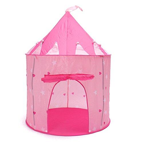 MOHOO Portable pliant Princesse rose Tente de jeu d'enfants d'enfants Castle Cubby Maison de jouer