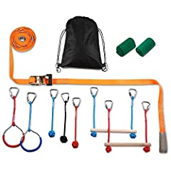 The PACKGOUT Slackline Kit is as complete as a slackline kit can get. It has all you need to get-set-slackline! Kit components are of the highest quality - ratchets of high grade steel, Slackline training lines of 100% polyester, ratchet prot...