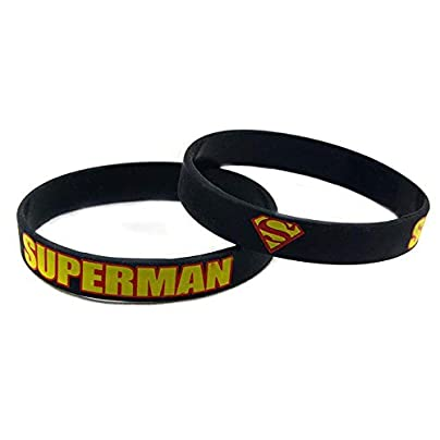 CWLLWC Silicone Bracelet Silicone Wristbands with Sayings Superman Rubber Wristbands for Men and Kids Encouragement Set Pieces Estimated Price £26.99 -