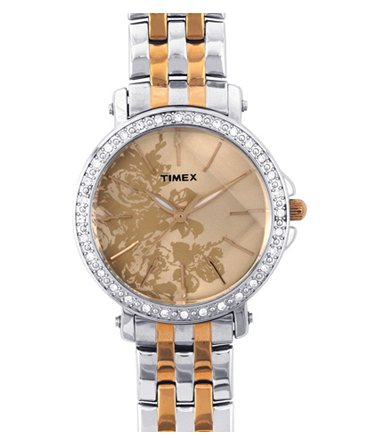 Timex Fashion Analog Beige Dial Women's Watch