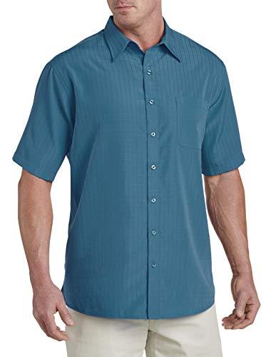 Harbor Bay by DXL Big and Tall Short-Sleeve Microfiber Sport Shirt