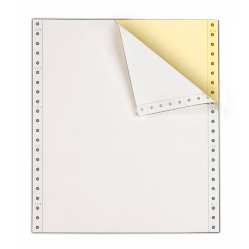 Computer Paper, 9 1/2 x 11, 2 Part, Carbonless White - Yellow, 1400 Sets Per Carton