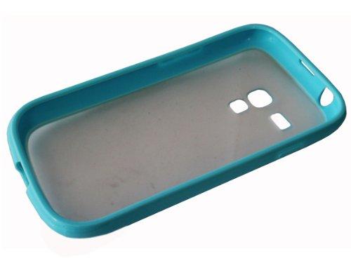 Avcibase 4260344980536 TPU Mix Bumper Schutzhülle für Samsung Galaxy S3 mini i8190 gelb/türkis