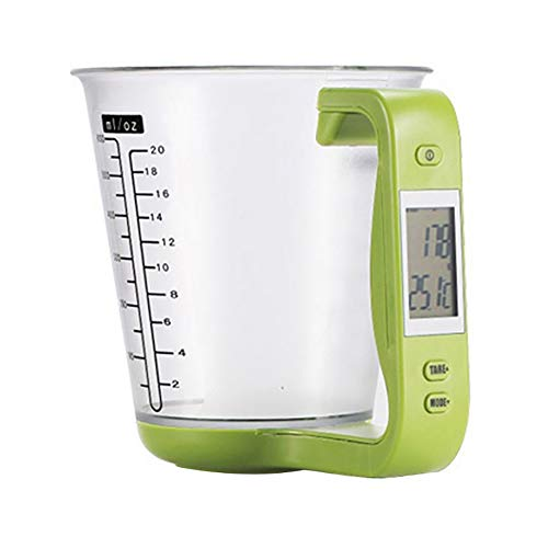 Digital Measuring Cup, Maserfaliw Digital LCD Display Scale Measuring Cup Electronic Kitchen Baking Cooking Tool - Green, Practical Holiday Gifts And Family Essentials.