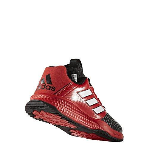 Adidas rapidaturf Ace K–Chaussures de fútbolpara enfants, noir–(negbas/Ftwbla/rouge), -6