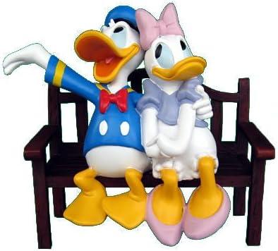 Disney Kunstharz 2 Figuren Set Donald Duck und Daisy Duck mit Kado #2 NEU
