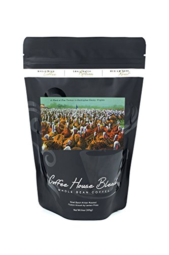 Virginia - Rockingham County Turkey Flock (8oz Whole Bean Small Batch Artisan Coffee - Bold & Strong Medium Dark Roast w/ - Rockingham Parks