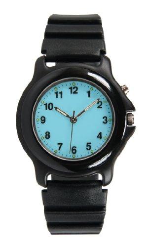 Unisex Black Anodized EL Glow Rubber Strap Watch # 0377KX, Watch Central