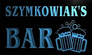w056665-b SZYMKOWIAK Name Home Bar Pub Beer Mugs Cheers Neon Light Sign