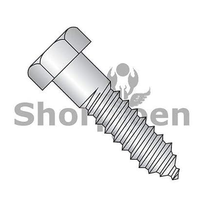 Pack of 50 SHORPIOEN Lag Screw Hex Head 18 8 Stainless Steel 5//16 x 4 BC-3164L188-50