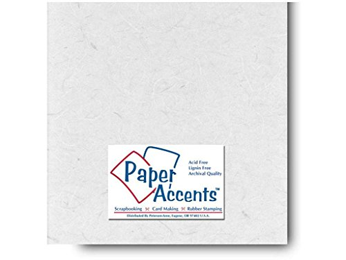 Accent Design Paper Accents Mulberry 12x12 White